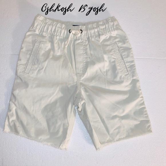 NWT 3T Boy/'s OshKosh B/'gosh Khaki Tan Cotton Drawstring Shorts Ships Free!
